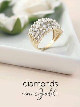 Diamond Jewelry in Gold