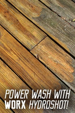 Power Wash with WORX Hydroshot!