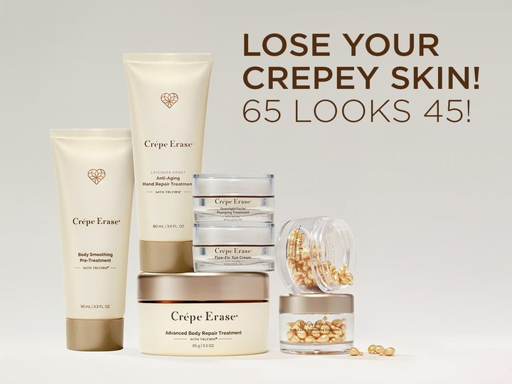 Lose Your Crepey Skin! 65 Looks 45!